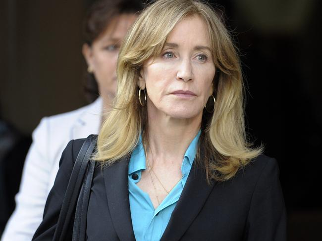 Felicity Huffman agreed to plead guilty to helping her eldest daughter get better scores on a university entrance exam. Picture: AFP