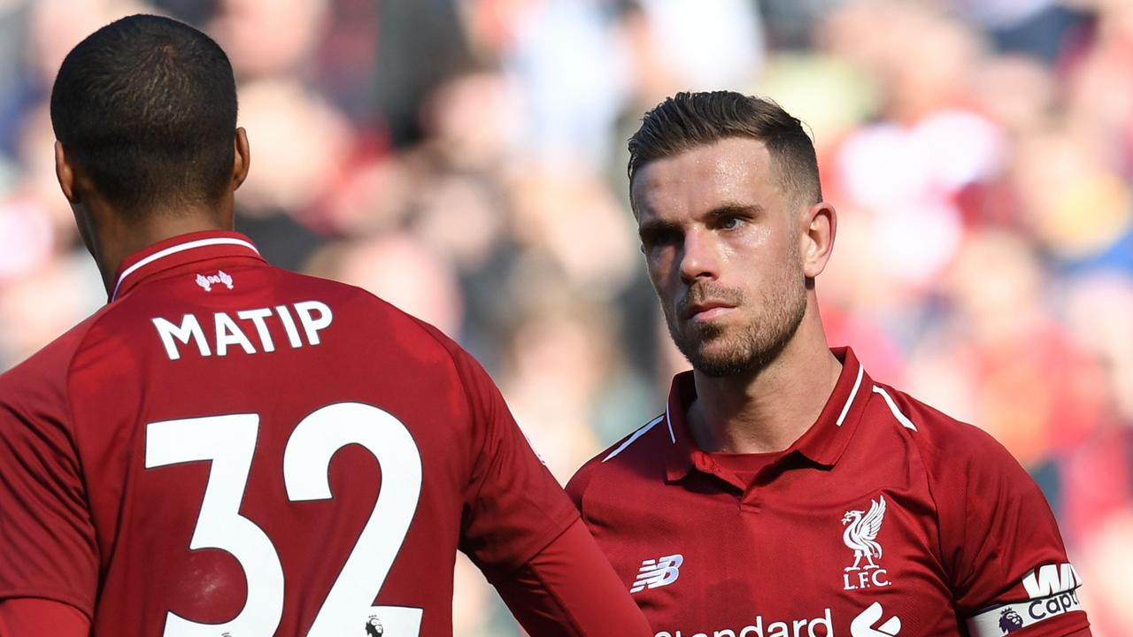 Jordan Henderson and Joel Matip lament what could have been.