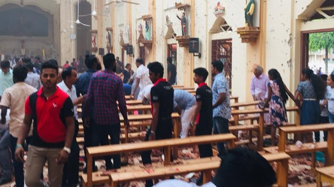 One of the Sri Lankan churches hit on Sunday. Picture: Facebook/Sebastian Church.