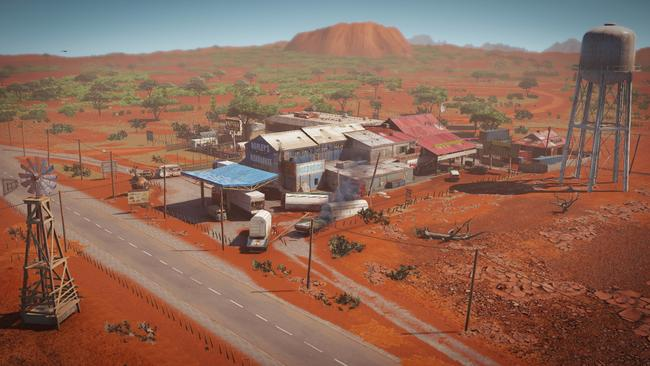 The new Australian map takes place in a roadhouse/hotel/petrol station in the outback and has several uniquely Australian touches.