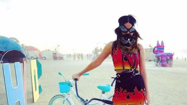 Katy Perry takes Burning Man Festival 2015 in the Nevada Desert. Picture: Instagram