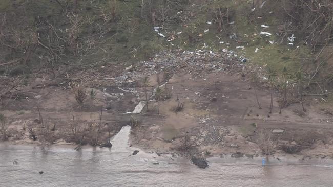Winds at a speed of 300kmh tore apart the costal villages. Picture: NZ Defence AirForce/Fijian Government.