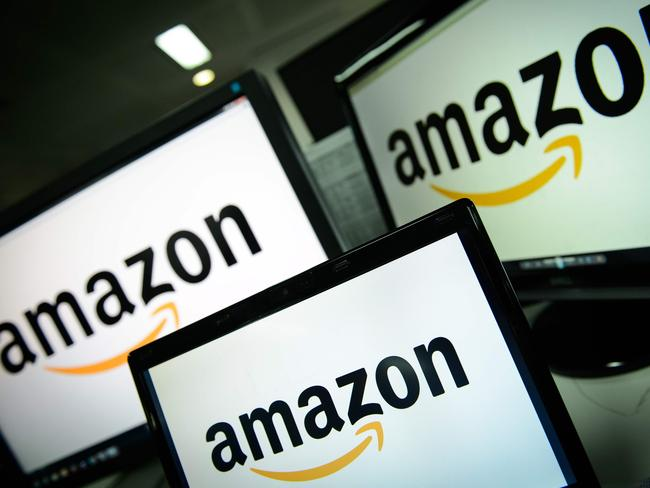 Amazon shares have fallen after Trump accused the online company of not paying enough tax. Picture: AFP