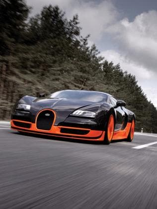 Top gear ... The record-breaking Bugatti Veyron 16.4 Super Sport, which set a new speed record of 431km/h.