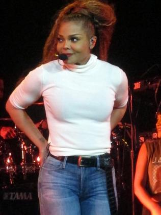 Janet Jackson looking great on the opening night of her State Of The World tour. Picture: Splash.