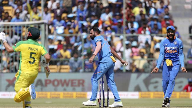 Aaron Finch was furious with Steve Smith after he was run out.