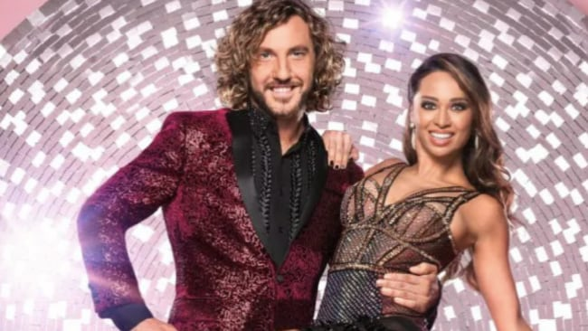 Seann Walsh was photographed kissing his dance partner, Katya Jones. Source: Supplied