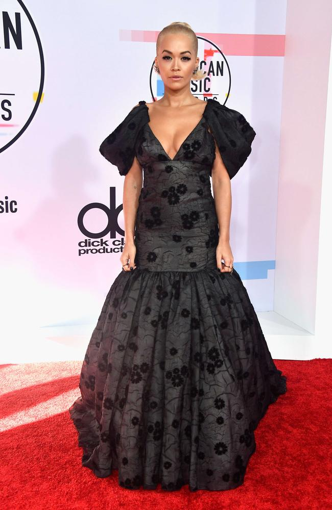 Rita Ora's hitting up a funeral later. Picture: Getty Images/AFP
