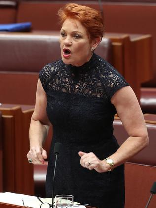 Pauline Hanson. Picture: Kym Smith