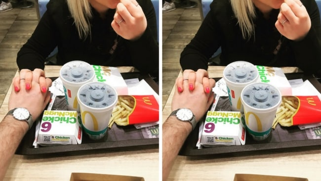 Falling in love over a McChicken. Photo: Instagram @emanuele_marroni