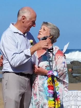 When David Swann & Kath Foreman met on a flight from Melbourne to Nadi they didn't know they'd end up spending the rest of their lives together. Picture: Fiji Airways