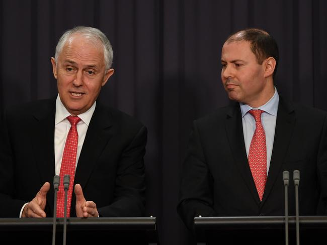Prime Minister Malcolm Turnbull and Energy Minister Josh Frydenberg have put pressure on AGL over the Liddell Power Station. Picture: AAP Image/Lukas Coch