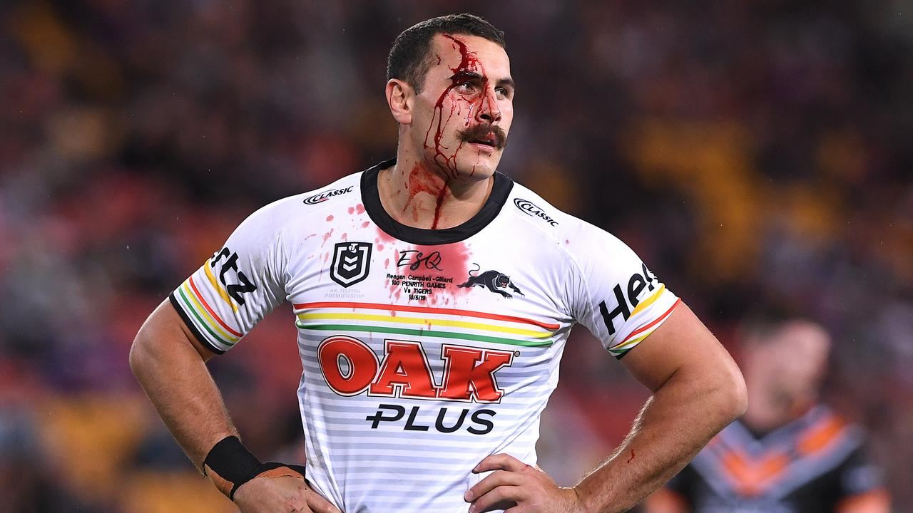 Reagan Campbell-Gillard has opened up on his painful exit from the Panthers after signing a five year deal with the Eels. (AAP Image/Dave Hunt)