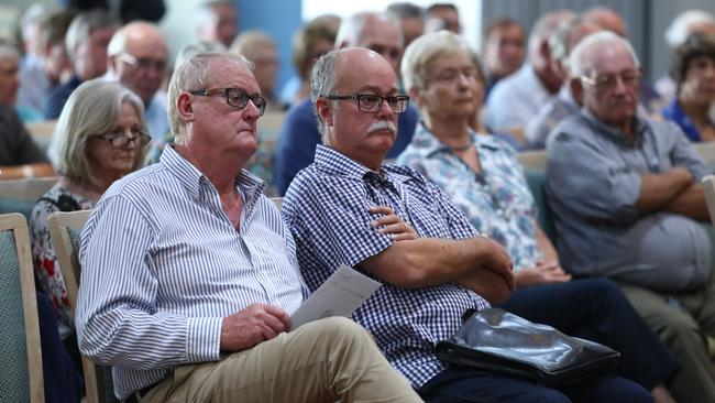 Residents of the marginal electorate of Eden-Monaro have attended a taxpayer-funded parliamentary hearing held by Tim Wilson. Picture: Hollie Adams
