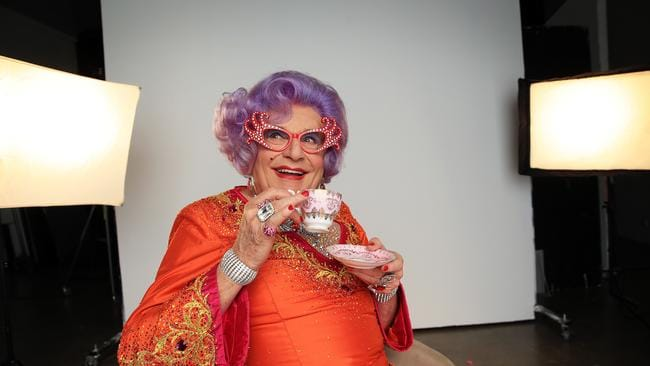 Barry Humphries, as Dame Edna Everage, will no longer have the Melbourne International Comedy Festival award named after him. Picture: Sam Ruttyn
