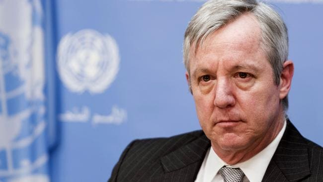 United Nations Assistant Secretary-General Anthony Banbury says the UN has a zero-tolerance policy to sexual abuse. Picture: Mark Garten/The United Nations via AP