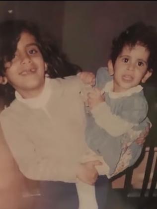 Loujain and Lina Al-Hathloul as children.