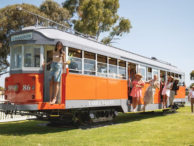The Chandon S tram. Picture: Supplied