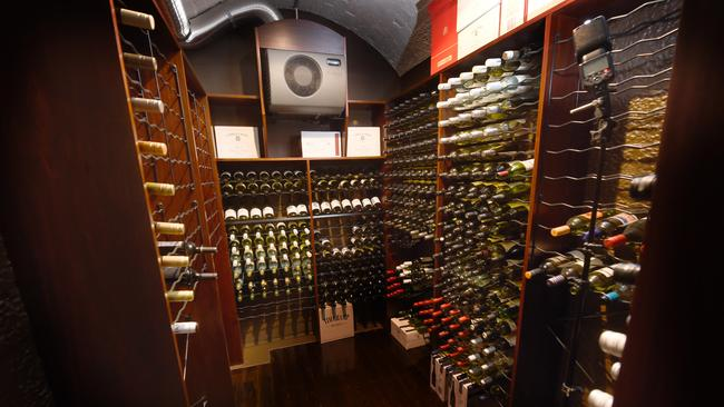 The cellars will hold up to 2000 bottles. Picture: Tony Gough