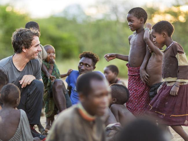 Todd Sampson lived with the hunter gatherer Hadza tribe in Tanzania. Picture: Supplied