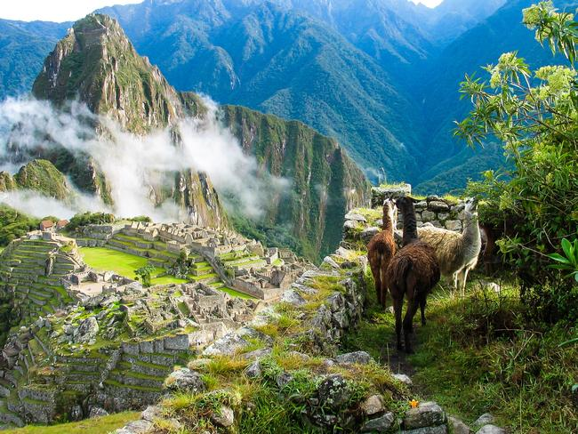 Machu Picchu is an Incan citadel set high in the Andes Mountains in Peru. It has become a popular tourist destination.
