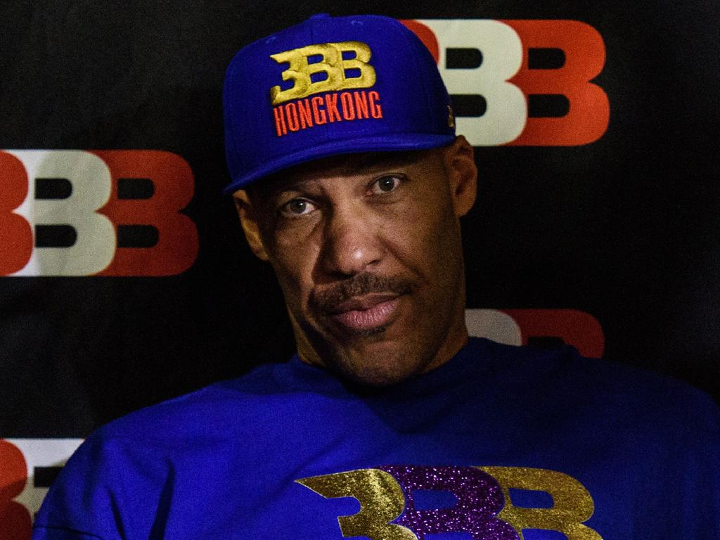 """(FILES) This file photo taken on November 14, 2017 shows LaVar Ball, father of basketball player LiAngelo Ball and the owner of the Big Baller brand, attends a promotional event in Hong Kong. Donald Trump on November 19, 2017 said he was sorry for helping secure the release of three college basketball players caught shoplifting in China, after one of their fathers downplayed the president's role. The UCLA trio of LiAngelo Ball, Cody Riley and Jalen Hill were briefly detained for stealing from a Louis Vuitton store in the city of Hangzhou earlier this month in what became a minor diplomatic incident.Trump lashed out, tweeting: """"Now that the three basketball players are out of China and saved from years in jail, LaVar Ball, the father of LiAngelo, is unaccepting of what I did for his son and that shoplifting is no big deal. """"I should have left them in jail!"""" he added.   / AFP PHOTO / Anthony WALLACE"""