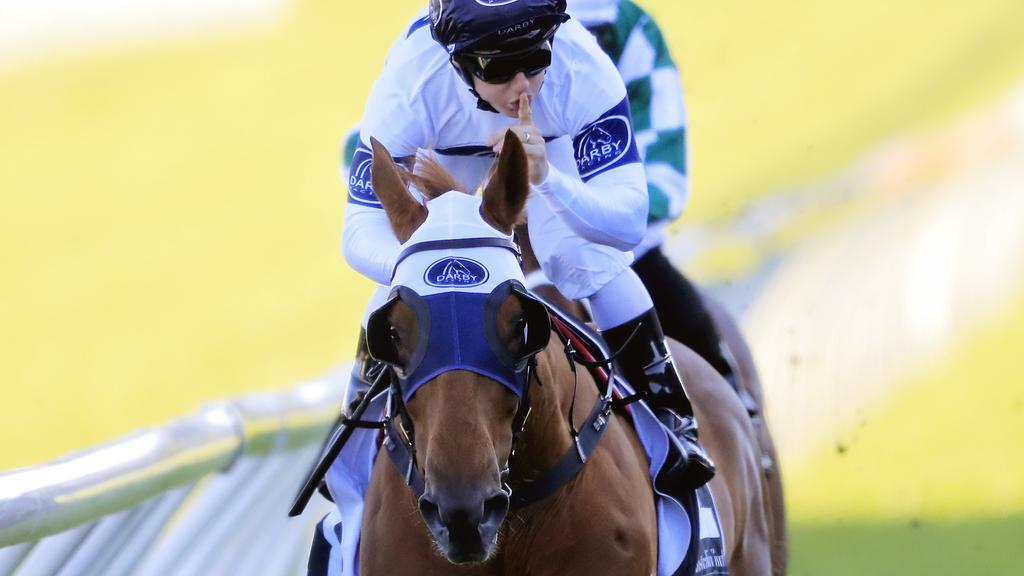 Samadoubt silenced the doubters with a dominant win in the Chelmsford Stakes. Picture: Getty Images