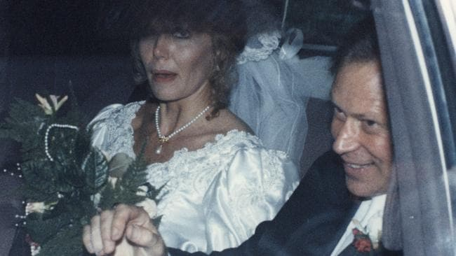 Michael Chamberlain, pictured with second wife, Ingrid Chamberlain on their wedding day. Ingrid suffered a major stroke that left her profoundly disabled.