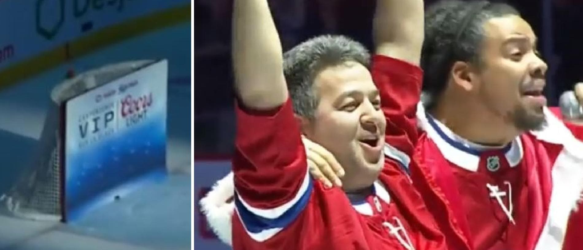 An ice hockey fan hit a ridiculously tough shot to win $CA50,000.
