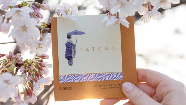 For blotting. Photo: Instagram @tatcha