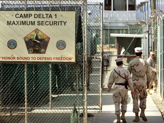 Camp Delta at Guantánamo Bay housed terror suspects post 9/11. Picture: Brennan Linsley/AP