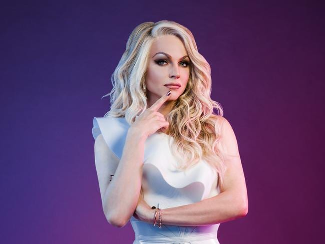 Courtney Act is a big star in the UK and sure to win fan votes. Picture: Supplied.