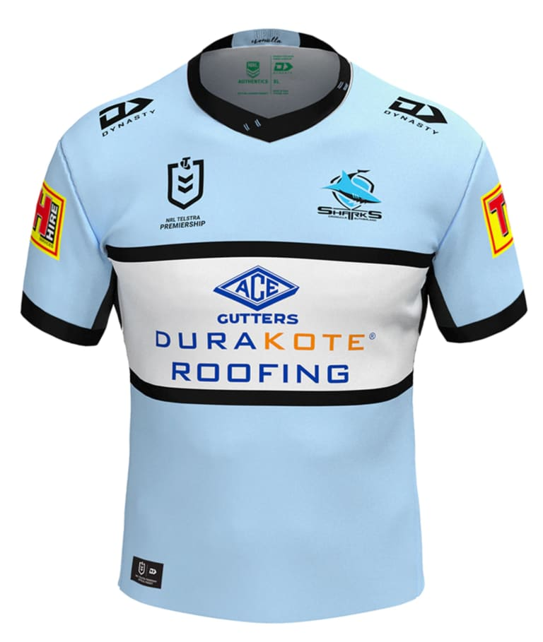 Cronulla Sharks home jersey 2020.