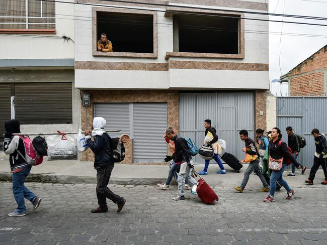 Many Venezuelans are fleeing their country due to violence and economic hardship. Picture: Luis Robayo/AFP