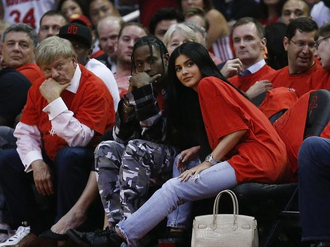 Kylie Jenner is said to be expecting her first child with rapper Travis Scott. Picture: Bob Levey/Getty Images