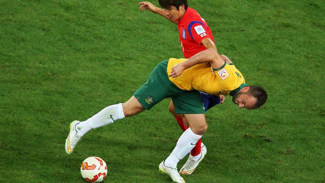 A courageous Franjic admits he didn't expect to last as long as he did in the Asian Cup final.