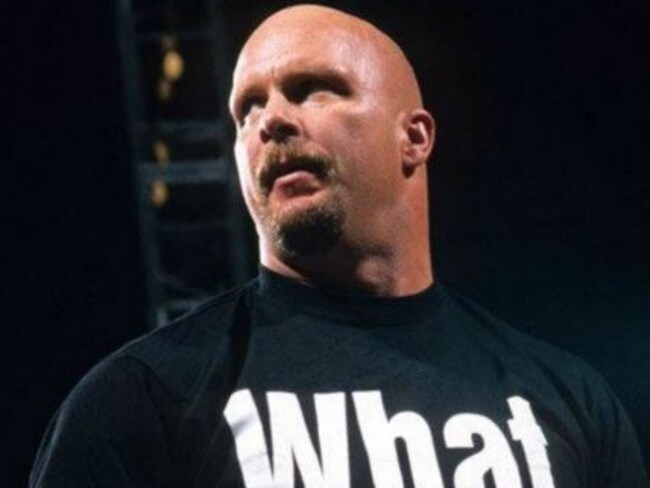 """The iconic """"Stone Cold"""" Steve Austin."""