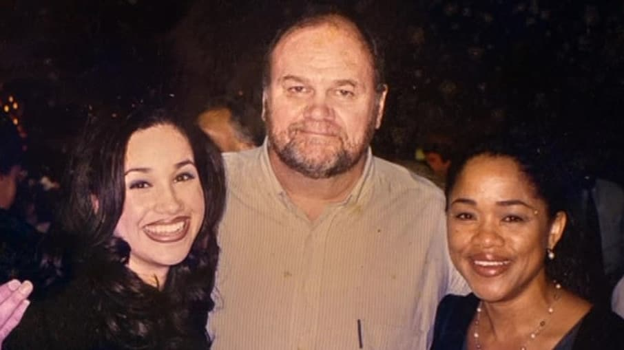 Meghan with her parents Thomas Markle and Doria Ragland. Picture: Thomas Markle: My Story