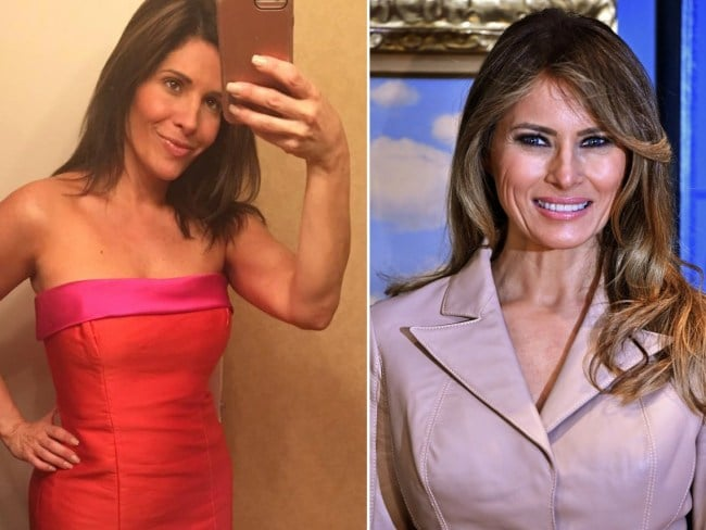 This woman wants to look like her idol Melania Trump. Photo: NY Post