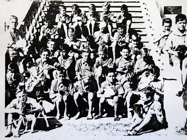 A picture of some of the boys from Bindoon Boys Town taken from a book by Lionel Welsh, Called Orphan of the Empire.