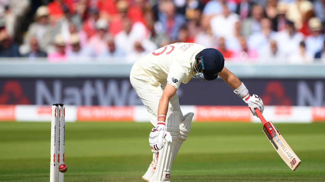 Joe Root has issues with full fast balls on his stumps.