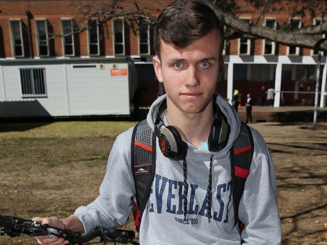 Politics student Max Claessens whose friend witnessed the assault. Picture: Ray Strange.
