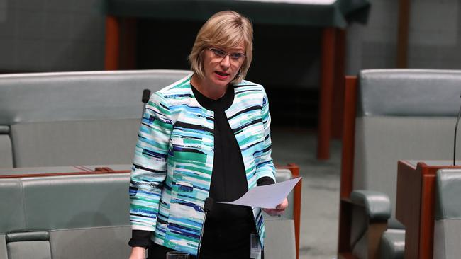 Zali Steggall during Question Time in the House of Representatives Chamber, at Parliament House in Canberra. Picture Kym Smith