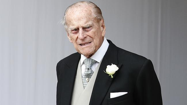 """Prince Philip was flown by helicopter to London for """"observation and treatment"""" on Friday. Picture: AP."""