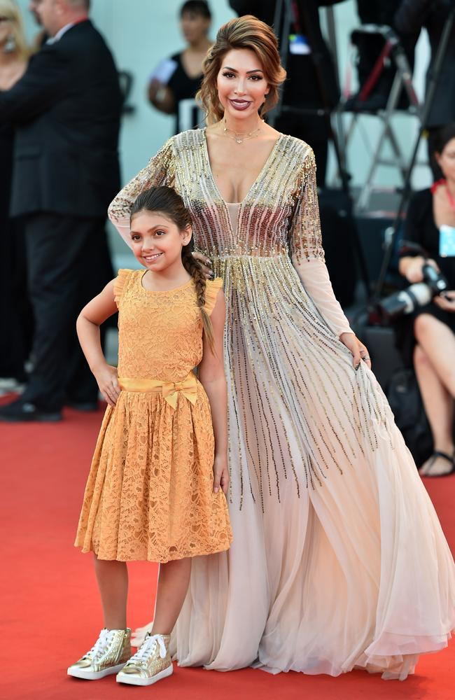 Farrah Abraham and her daughter walk the red carpet at the 76th Venice Film Festival last month. Picture: Theo Wargo/Getty Images