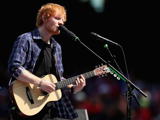 Ed Sheeran. Pic Quinn Rooney/Getty Images