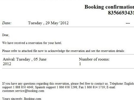 You should always send a confirmation email before going on holidays.