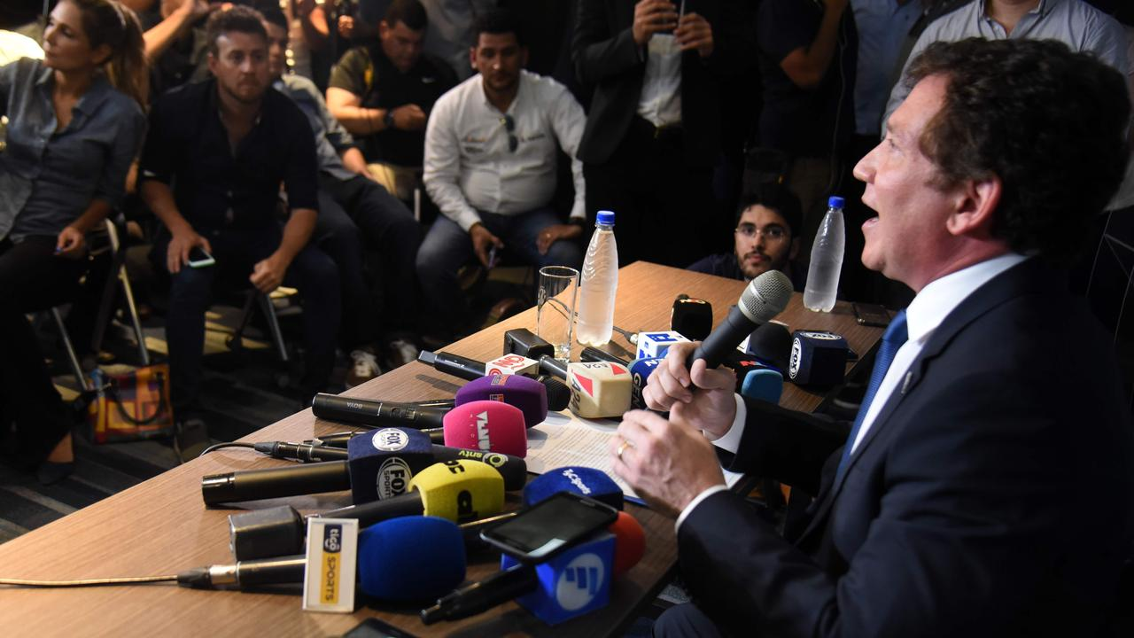 The president of the South American football's governing body Conmebol, Paraguayan Alejandro Dominguez, has announced the Copa Libertadores will now be held outside Argentina