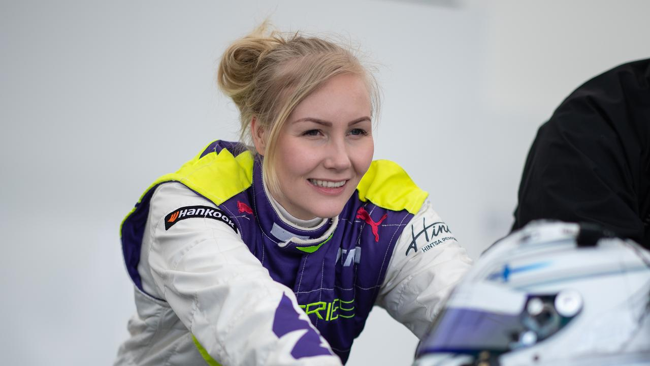 Finnish driver Emma Kimilainen once quit racing after an X-rated request from a sponsor.