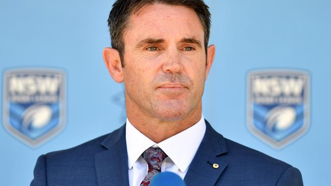 Brad Fittler at his first press conference as NSW coach.